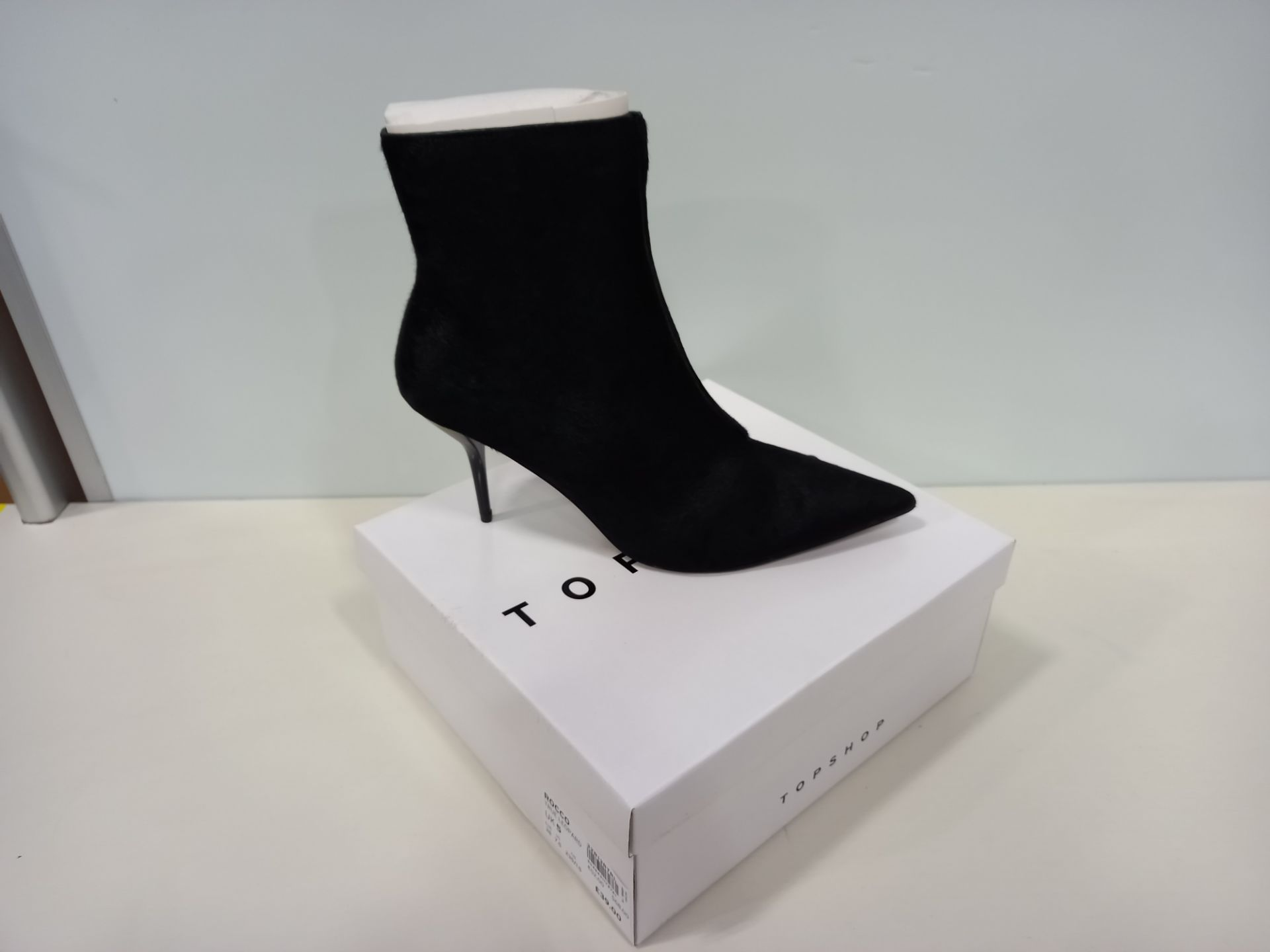 10 X BRAND NEW TOPSHOP HEY BLACK SHOES UK SIZE 6 AND 4 RRP £79.00 (TOTAL RRP £790.00)