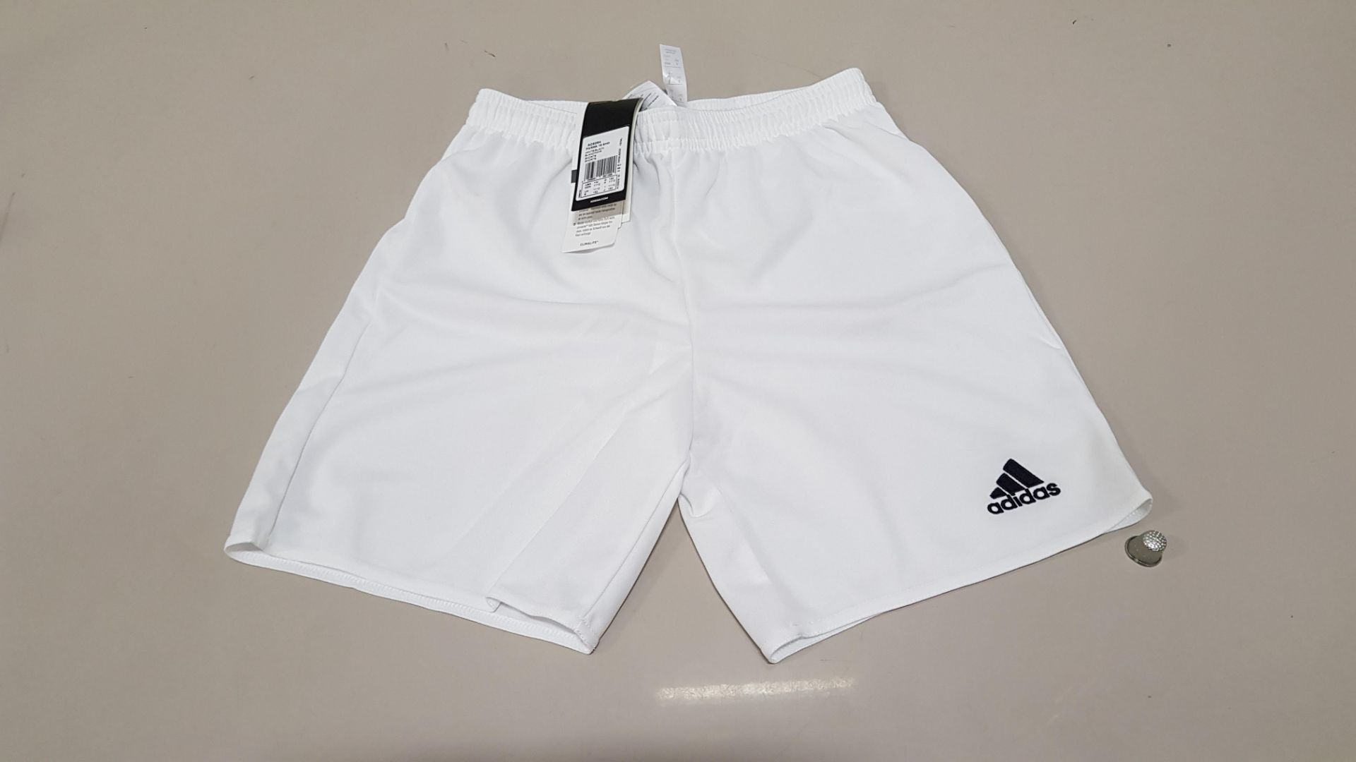 20 X BRAND NEW ADIDAS PARMA 16 SHORTS AGE 11-12 YEARS (PICK LOOSE)