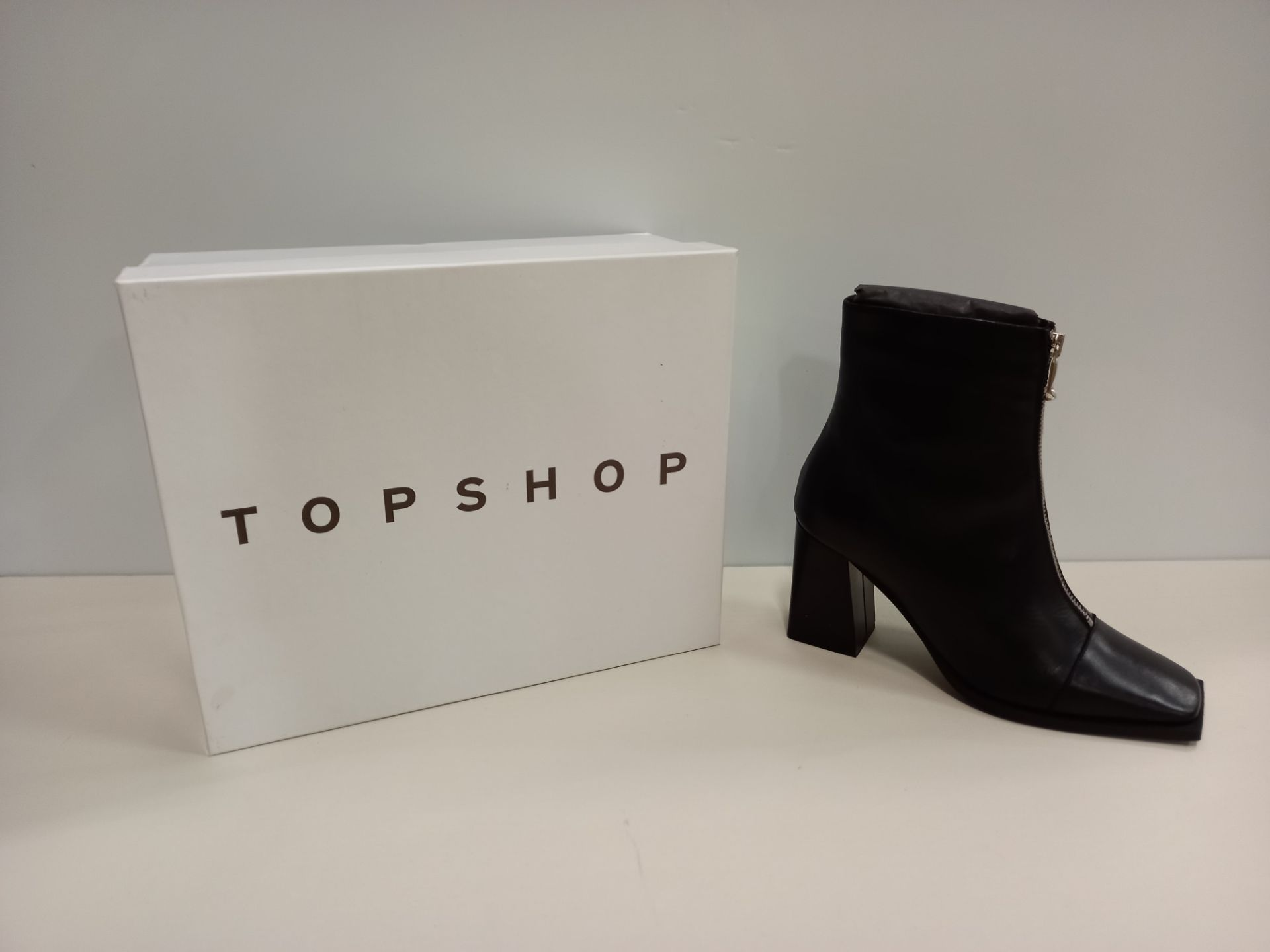 9 X BRAND NEW TOPSHOP HEIDI BLACK SHOES UK SIZE 5 RRP £89.00 (TOTAL RRP £801.00)