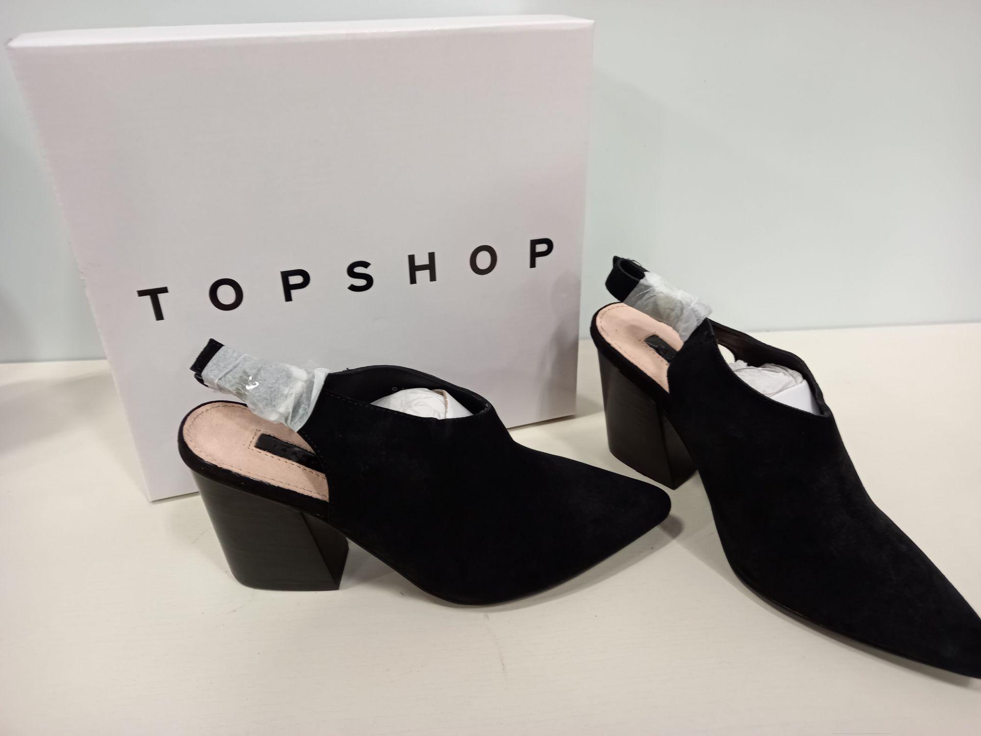 15 X BRAND NEW TOPSHOP GOJI BLACK SHOES UK SIZE 4 RRP £46.00 (TOTAL RRP £690.00)