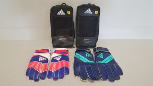 9 X BRAND NEW ADIDAS PREDATOR FOOTBALL GLOVES IN VARIOUS COLOURS AND SIZES