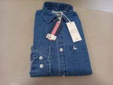 12 X BRAND NEW JACK WILLS CALBOURNE INDIGO SHIRTS SIZE XS IN BLUE WITH SWING TICKETS RRP £64.95 EACH