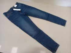 10 X BRAND NEW TOPSHOP JAMIE HIGH WAISTED SKINNY PETITE JEANS UK SIZE 10 RRP £40.00 (TOTAL RRP £
