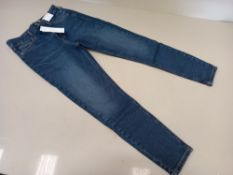 10 X BRAND NEW TOPSHOP MOM HIGH WAISTED TAPERED LEG TALL JEANS UK SIZE 8 RRP £40.00 (TOTAL RRP £