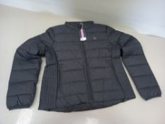 6 X BRAND NEW JACK WILLS LORNA PADDED JACKETS SIZES 12 X 3, 10 X 3 IN GREY WITH SWING TICKETS RRP (