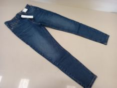 10 X BRAND NEW TOPSHOP JAMIE HIGH WAISTED SKINNY PETITE JEANS UK SIZE 12 RRP £40.00 (TOTAL RRP £