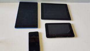 4 PIECE SPARES LOT CONTAINING 1 X APPLE IPAD TABLET 1 X HP SLATE TABLET 1 X NOKIA SMARTPHONE 1 X