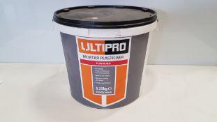 12 X BRAND NEW ULTIPRO 5.25KG POWDERED MORTAR PLASTICISER (250 X 21G SACHETS) - PICK LOOSE