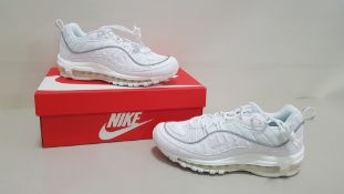 5 X BRAND NEW WOMENS WHITE NIKE AIR MAX 98S ITEM CODE - PAFCM PAUH9 UK SIZE 5