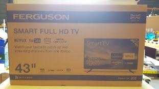 1 X BRAND NEW BOXED FERGUSON 43 SMART FULL HD TV