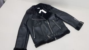 4 X BRAND NEW TOPSHOP LEATHER STYLED JACKET UK SIZE 14 RRP £65.00 (TOTAL RRP £260.00)