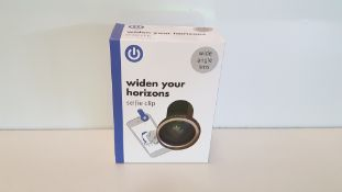 224 X BRAND NEW BOXED WIDEN YOUR HORIZONS SELFIE CLIP (WIDE ANGLE LENS) - IN 7 BOXES