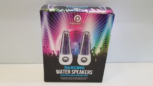 24 X BRAND NEW BOXED POWERFULL DANCING WATER SPEAKERS WITH COLOUR CHANGING LEDS. - IN 2 BOXES