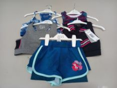 50 PIECE MIXED GYM/ SWIMIMING CLOTHING LOT CONTAINING VARIOUS GYM / SWIMMING TOPS IN VARIOUS COLOURS