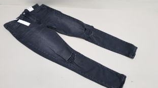 10 X BRAND NEW TOPSHOP JAMIE JEANS UK SIZE 10 AND 14 RRP £42.00 (TOTAL RRP £420.00)