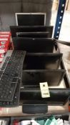 9 PIECE ASSORTED IT LOT CONTAINING 7 X VARIOUS MONITORS AND 2 X KEYBOARDS.