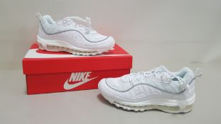 5 X BRAND NEW WOMENS WHITE NIKE AIR MAX 98S ITEM CODE - PAFCM PAUH7 UK SIZE 4