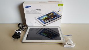 BOXED SAMSUNG NOTE TABLET 10 SCREEN 16GB STORAGE - WITH EARPHONES, S PEN AND CHARGER