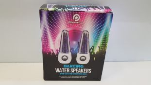 36 X BRAND NEW BOXED POWERFULL DANCING WATER SPEAKERS WITH COLOUR CHANGING LEDS. - IN 3 BOXES