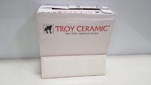 360 X BRAND NEW BOXED TROY CERAMIC WALL TILES (100 X 300 X 9MM) - IN 12 BOXES