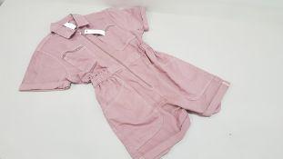 10 X BRAND NEW TOPSHOP DENIM ZIPPED DRESSES UK SIZE 14 RRP £45.00 (TOTAL RRP £450.00)