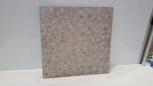170 X BRAND NEW BOXED TROY CERAMIC GLAZED PORCELAIN WALL & FLOOR TILES IN TERRAZZO GREY. (450 X