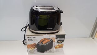 12 X BRAND NEW BOXED SALTER DECO 2-SLICE TOASTER (7 LEVELS OF BROWNING) - IN 2 BOXES