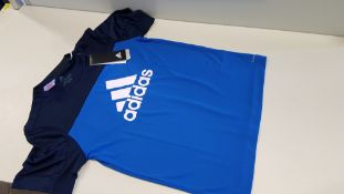 7 X BRAND NEW ADIDAS KIDS BLUE T SHIRTS IN VARIOUS SIZES