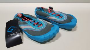 33 X BRAND NEW G FORCE BLUE/ CORAL AQUA SHOES IN VARIOUS SIZES