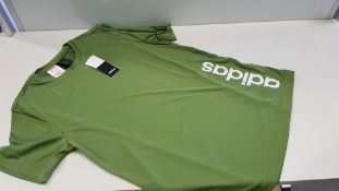 8 X BRAND NEW ADIDAS KIDS GREEN T SHIRTS IN VARIOUS SIZES