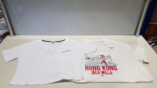 12 PIECE MIXED JACK WILLS CLOTHING LOT CONTAINING 3 X HONG KONG LOCATION T SHIRTS AND 9 X CROP T