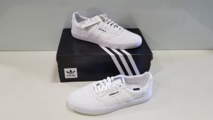 6 X BRAND NEW ADIDAS ORIGINALS TRIPLE WHITE 3MC TRAINERS UK SIZE 6.5 (PLEASE NOTE SOME SHOES ARE