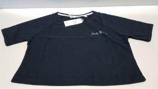 22 X BRAND NEW JACK WILLS LOWTON BLACK CROP T SHIRTS UK SIZE 8 RRP £26.95 (TOTAL RRP £592.90)