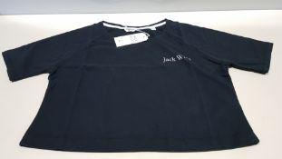 20 X BRAND NEW JACK WILLS LOWTON BLACK CROP T SHIRTS UK SIZE 8 RRP £26.95 (TOTAL RRP £539.00)