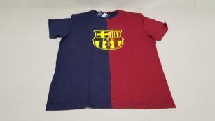 18 X BRAND NEW BARCA STORE OFFICIAL MERCHANDISE FC BARCELONA NAVY AND BURGUNDY SHORT SLEEVED TOPS