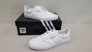 5 X BRAND NEW ADIDAS ORIGINALS 3MC IN TRIPLE WHITE UK SIZE 7 (PLEASE NOTE SOME SHOES ARE MARKED