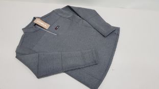 8 X BRAND NEW GUL AIROTHERM 1/4 ZIP TOP IN GREY - SIZE L - RRP £44.95 EACH - TOTAL £359.60