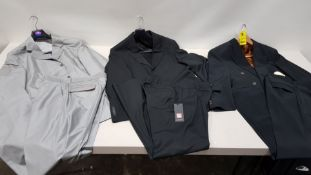 8 PIECE MIXED 2 PIECE SUIT LOT INCLUDING BLAZER AND TROUSER IN VARIOUS STYLES AND SIZES