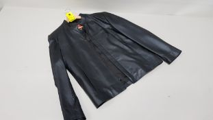 1 X BRAND NEW ITALIAN COLLECTION 100% LEATHER JACKET SIZE XS RRP £399.00