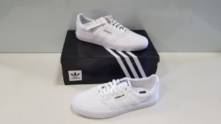 6 X BRAND NEW ADIDAS ORIGINALS TRIPLE WHITE 3MC TRAINERS UK SIZE 5 AND 5.5 (PLEASE NOTE SOME SHOES