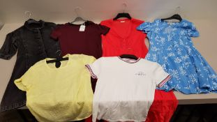 30 PIECE MIXED JACK WILLS WOMENS CLOTHING LOT CONTAINING TOPS, JUMPERS, DRESSES AND VESTS ETC