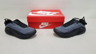 5 X BRAND NEW NIKE KIDS AIR MAX 2090S IN BLACK AND GREY UK SIZE 2