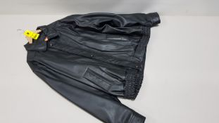 1 X BRAND NEW ITALIAN COLLECTION 100% LEATHER JACKET SIZE 4XL RRP £479.00