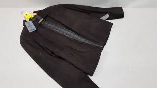 1 X VALI COLLECTION 100% BROWN LEATHER JACKET SIZE LARGE RRP £429.00 (NOTE: SLIGHT WATER STAINING AT
