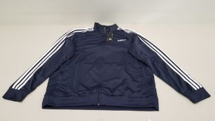 10 X BRAND NEW ADIDAS WHITE AND NAVY TRACKSUIT TOPS IN SIZE XL