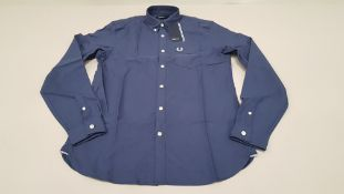 11 X BRAND NEW FRED PERRY CLASSIC OXFORD NAVY LONG SLEEVED SHIRTS 6 X SIZE EXTRA LARGE AND 5 X