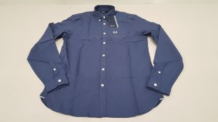 10 X BRAND NEW FRED PERRY CLASSIC OXFORD NAVY LONG SLEEVED SHIRTS SIZE EXTRA EXTRA LARGE