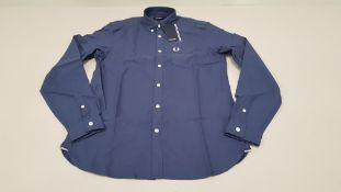 10 X BRAND NEW FRED PERRY CLASSIC OXFORD NAVY LONG SLEEVED SHIRTS SIZE SMALL