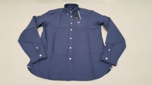 10 X BRAND NEW FRED PERRY CLASSIC OXFORD NAVY LONG SLEEVED SHIRTS SIZE LARGE