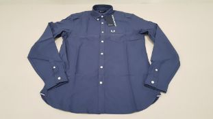 10 X BRAND NEW FRED PERRY CLASSIC OXFORD NAVY LONG SLEEVED SHIRTS SIZE EXTRA LARGE